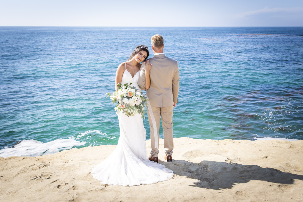 La Jolla Ca Beach Wedding Blue Spot Photography
