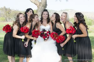 bride with bridesmaids wedgewood photos