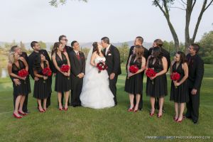 bridal party at wedgewood wedding
