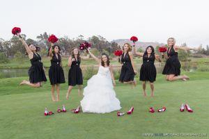 bridesmaids jumping wedgewood fallbrook photographer