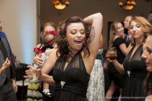 bridesmaids dancing wedgewood weddings