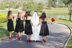 bridesmaids walking at wedgewood photo