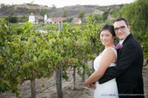 wedding couple at keyways winery